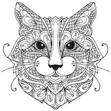 Unusual Design Cat Coloring Pages For Adults Unbelievable
