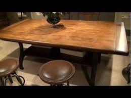 New Lou Rectangular Trestle Dining Table with Metal Legs by