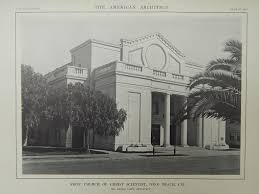 100 Long Beach Architect First Church Of Christ Scientist CA 1914 Lithograph