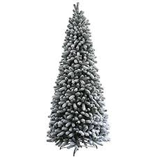 65 Ft Christmas Tree by Clever 65 Ft Slim Christmas Tree 6 5 Prelit Flocked Trees Led