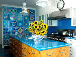 A Kitchen In Boston Featuring Refrigerator Hidden With Quilt Patterns Reverse Painted On Glass
