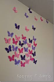 Little Girls Room Idea Glitter Paper Butterflies 4