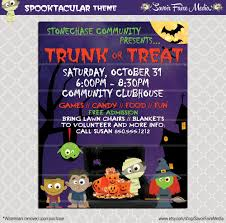 Free Blank Halloween Invitation Templates by Trunk Or Treat Flyer Invitation Poster Halloween Template