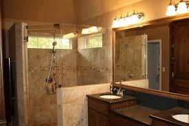 black sink countertop frameless clear glass shower barrier gold