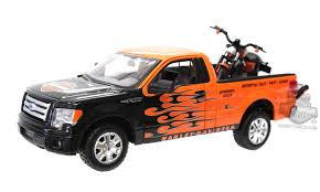 100 Ford Harley Davidson Truck MA32182 2010 F150 STX Orange With Black