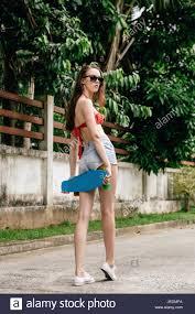 beautiful in red bra trendy sunglasses white