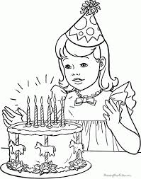 Kids Coloring Birthday Pages Printable On Free Happy