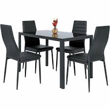 5 Piece Dining Table Set 4 Chairs Glass Metal Kitchen Room Breakfast  Furniture Argos Home Lido Glass Ding Table 4 Chairs Black Winsome Wood Groveland Square With 5piece Ktaxon 5 Piece Set4 Chairsglass Breakfast Fniture Crown Mark Etta And Bench 22256p Hesperia Casual Drop Leaves Storage Drawer By Coaster At Value City Braden Set Includes Morris Furnishings Tall Ding Table Chairs Height Canterbury Ekedalen Dark Brown Orrsta Light Gray Cascade Round Kincaid Becker World Costway Metal Kitchen