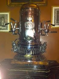 A Vintage 1903 Espresso Machine At Village Cafe