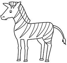 Zebra Coloring Pages For Toddler