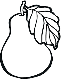 Free Coloring Pages Of Fruit Bowl The Spirit Christian Printable Pear Full Size