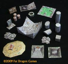 3d Printed Dungeon Tiles by E Z Dungeons Deluxe Edition Fdg0059 Fat Dragon Games
