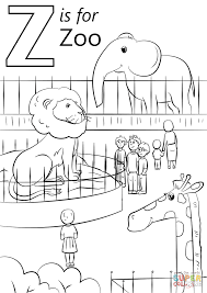 Letter Z is for Zoo coloring page