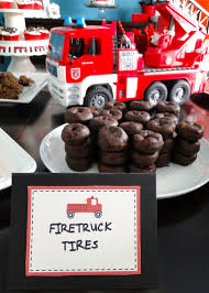 Firetruck Party Decorations! | Chocolate Donuts, Fire Engine And ... Fire Themed Party Supplies Firefighter Ornaments Cheap Truck A Twoalarm Fireman Birthday Spaceships And Laser Beams Hydrant Pinata Decorations Firetruck Printable Favors Cozy Coupe Ideas Tagged Flaming Secret Bubbles Flame Tour Engine Boxes 1st