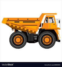 100 Mining Truck Powerful Mining Truck Royalty Free Vector Image