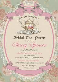 Vintage Tea Party Invitation Bridal By ThePaperWingCreation