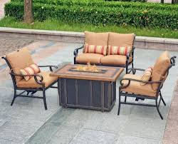 Menards Patio Furniture Cushions by Backyard Creations Palm Bay 4 Piece Fire Pit Patio Set At Menards