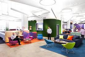 Online Marketing Firm LivePerson Accents Its Two Floor New York Workspace Which Boasts Amenities