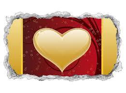 3d wandtattoo herz ranke blumenranke rot gold liebe hintergrund schlafzimmer tapete wand aufkleber wanddurchbruch sticker selbstklebend wandbild