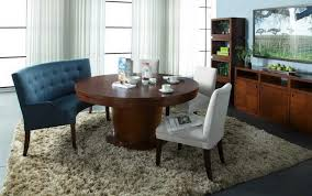 Dining Room Contemporary Set With Bench Black Floating Shelf Gold Elegant Copper Chandelier Awesome Crystal