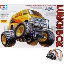 100 Monster Truck Lunch Box Details About NEW TAMIYA LUNCHBOX 112 RC MONSTER TRUCK VAN KIT 58347 With TBLE02 ESC CW01