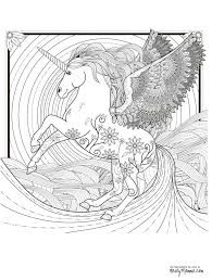 Fairy And Unicorn Coloring Pages For Adults Lovely Design Ideas Free Printable