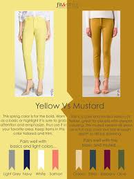 color lesson yellow vs mustard fit u0026 style