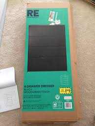 Target Black 4 Drawer Dresser by New Furniture Little Fat Notebook