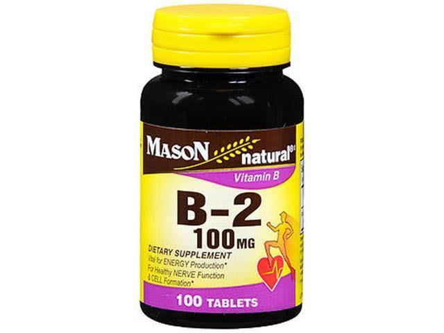 Mason Natural Vitamin B-2 100mg Tablets - x100