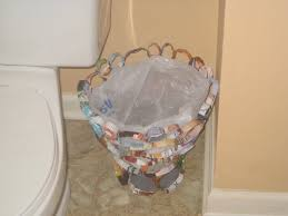 Small Bathroom Trash Can Ideas by Recyclers Anonymous Creative Recycled Projects On A Budget