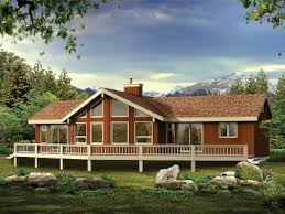 Lakeside Cabin Plans by Waterfront House Plans The House Plan Shop