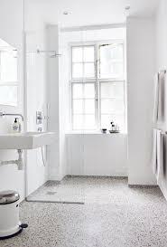 White Bathroom With Terrazzo Floor More