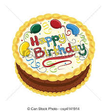 Happy Birthday Chocolate Cake Vector