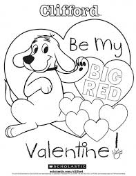 Cliffords My Big Red Valentine Coloring Sheet