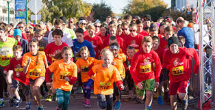 Group Smiling At Turkey Trot