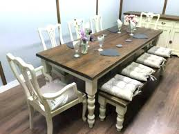 Farmhouse Tables Large Table Dining 8 Ft And Chairs Bench Shabby Chic