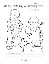 Printable Pictures First Day Of Preschool Coloring Pages On Kids Back To School Themed For Valentines
