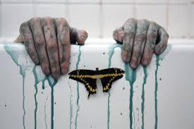 hintergrundbilder hände schmetterling tod badezimmer