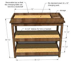 Free Solid Wood Dresser Plans by Ana White Build A Simple Changing Table Free And Easy Diy