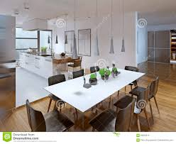 design der modernen küche mit esszimmer stockfoto bild