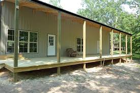 one man 80 000 u003d this awesome 30 x 56 metal pole barn home 25