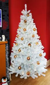 Pre Lit Pencil Christmas Trees Uk by The 4ft Pre Lit Iridescent Bianca Pine Tree With Warm White Lights