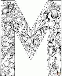 Letter M Coloring Pages Free For Kids