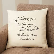 Personalized Love You To the Moon and Back Accent Pillow Walmart