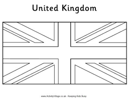 Coloring Sheets On Colouring Flag United Kingdom