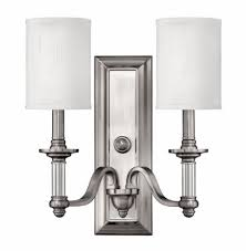 brushed nickel sussex interior wall mount
