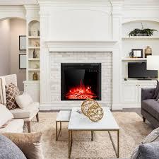 36 Superior Woodburning Fireplace With White Full Herringbone