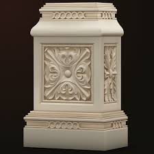 Base Decor 3d Model Pillar In 2019 Columns Decor Room