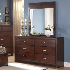 6 Drawer Dresser With Mirror by New Classic Kensington 6 Drawer Dresser And Vertical Mirror Set