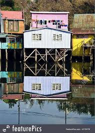 100 Houses In Chile South America Palafito Above The Water Castro Chiloe